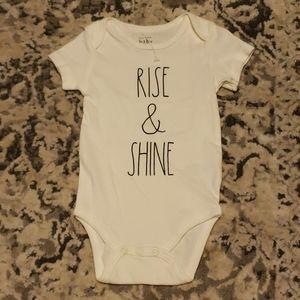Rae Dunn Short Sleeve Onsie Rise & Shine